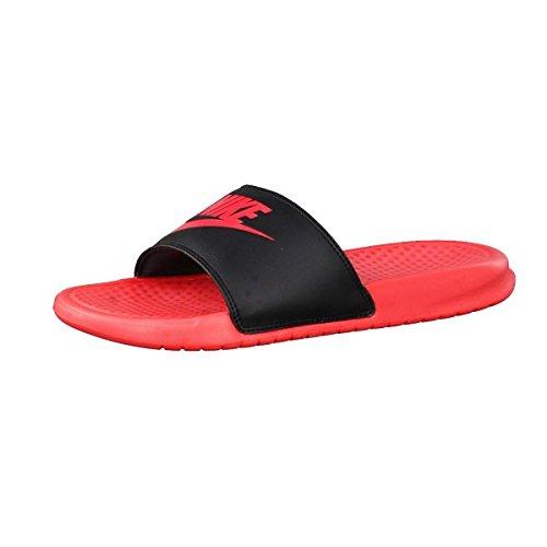 Nike Benassi JDI Sandals Nikeletten Sandalen 343881-606 (40 1/2, hyper/black)