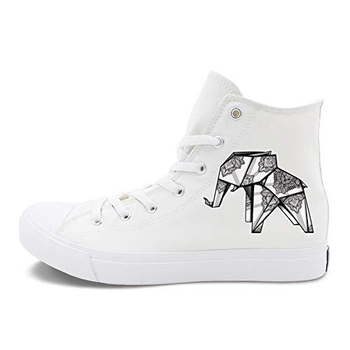 Exing Damenschuhe Leinwand Frühling Sommer Vulkanisierte Schuhe Sneakers Flache Ferse Runde Zehen Weiß Schwarz,A,49 - Schuh-leinwand-pumpe