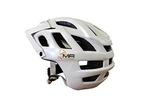 MFi Explorer–Casco Bicicleta Bluetooth Ideal para mountanbike, blanco