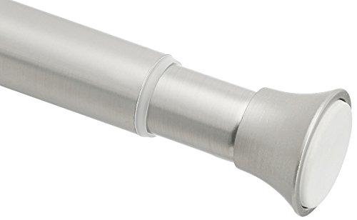 AmazonBasics Teleskop-Duschvorhangstange zum Einklemmen, 137,1-228,6 cm, Nickel