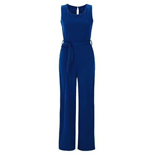 Eleganter Laeticia Dreams Damen Overall Jumpsuit Einteiler S M L XL XXL, Farbe:Royalblau;Größe:38