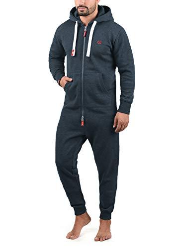 !Solid BennJump Herren Jumpsuit Sweat-Overall Onesie Mit Kapuze, Größe:L, Farbe:Insignia Blue Melange (8991)