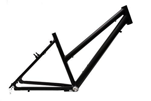 "28"" Zoll Alu Fahrrad Rahmen Damen Trekking Trapez Bike Rh 45cm schwarz matt Ketten Schaltung A-Head 1 1/8 B-Ware"