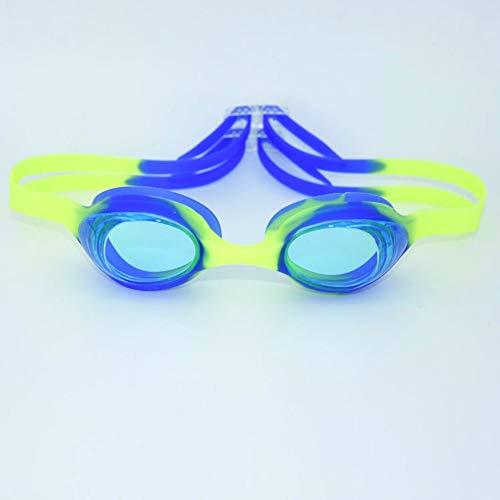 MRFENG Schwimmbrillen für Erwachsene Kinder,Tauchbrille Kinder HD wasserdicht Anti-Fog Lernen Schwimmen Jungen und Mädchen professionelle transparente Schutzbrille, blau 1