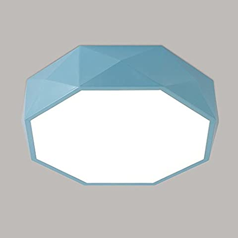 led polygon deckenleuchte blau acryl geformt geometrie flush berg für kinder zimmer jungs und mädchen schlafzimmer kindergarten led deckenleuchte. d42 * h12cm, 24w