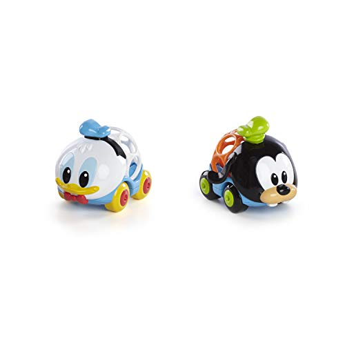 Disney Baby, Donald & Goofy Go Grippers Autos aus robustem, leicht greifbarem Material, perfekt für unterwegs, ab 12 Monaten