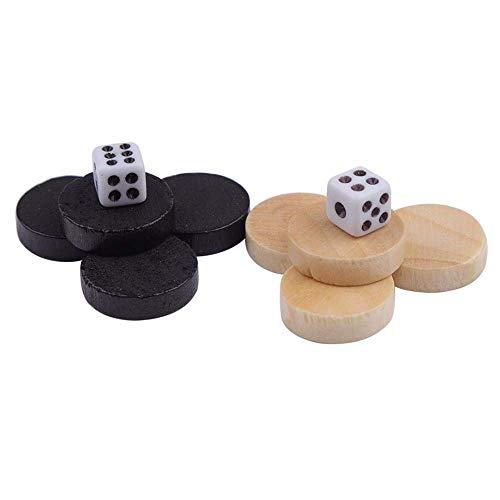 32Pcs Wooden Chess Pieces Draughts &Checkers Chessman Board Spiel für Kinder &Erwachsene (Checkers Board Spiel)