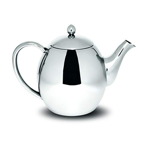 Sabichi 1200ml Double Wall Stainless Steel Teapot, Silver, 14.5 x 25.5 x 17 cm
