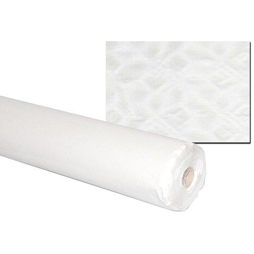 Damast Papiertischdecke Tischtuchrolle | 100m x 1m | 40g/m² | Weiß