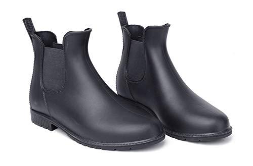 izug Rutschfeste Regen Stiefel Männlichen Knöchel Rainboots Wasserdicht Wasser Schuhe Schwarz, Schwarz, 43 ()