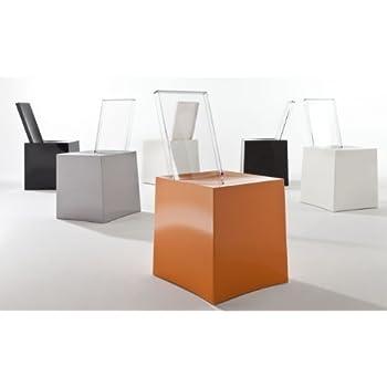 Kartell, Miss Less, Sedia, Bianco (Bianco/Trasparente), 42 x 85 x 45 ...
