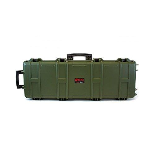 Nuprol Waffenkoffer groß, mit herausnehmbarer Schaumstoffpolsterung, grün