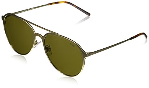 Polo Ralph Lauren Herren 0Ph3115 911673 58 Sonnenbrille, Gold (Olgreen),