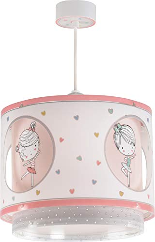 Dalber Sweet Dance Lámpara Infantil Colgante con diseño Bailarina, Multicolor