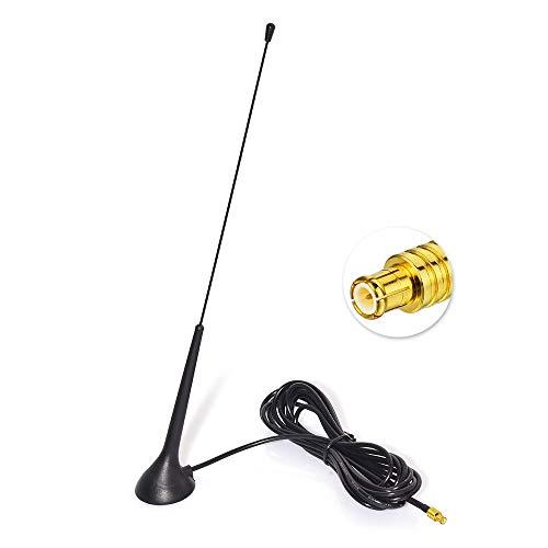Eightwood DAB DAB+ Antenne Autoradio MCX Antenne (KFZ Magnetfußantenne) mit Antenne Extension Kabel RG174 300cm für Digitalradio Empfang Blaupunkt Beat TechniSat Pioneer Sony Kenwood Alpine MEHRWEG -