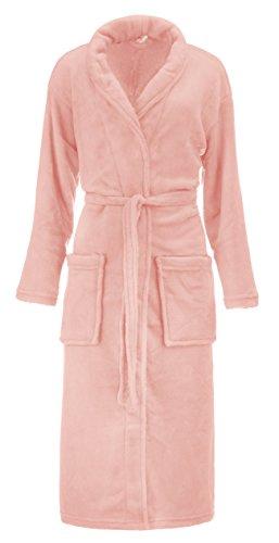 Velluto morbido accappatoio un cappotto alla moda Unisex - per uomo e donna - in microfibra nei colori: marrone, grigio, Beige e crema/bianco - nelle taglie: S/M e L/XL di Brand SELLER Rosé