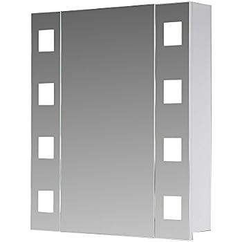Eurosan london l60 armoire de toilette miroir for Porte accordeon largeur 60 cm