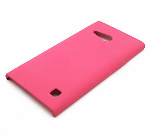 WOW Imagine Matte Rubberised Matte Hard Case Back Cover For Nokia Lumia 730 (Hot Pink)  available at amazon for Rs.189