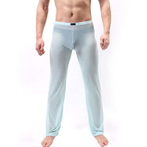 Setsail Herren durchsichtig Mesh Lange Hosen Unterhose Schiere Hose weiche dünne Mesh Dessous erotisch Unterhose -