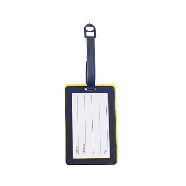 colore casuale R 5 pezzi di metallo Holiday Travel Bagaglio Valigia ID Tag bagagli fibbia Address Label Holder TOOGOO