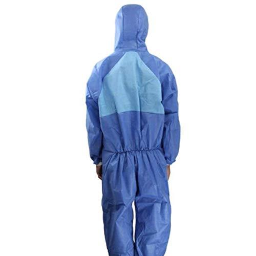 gz Indumenti protettivi chimici dedicati Indumenti protettivi chimici, categoria Iii, tipo 5 e 6, particelle anti-radiazioni, indumenti spray, tute antipolvere, tute traspiranti,2pcs,M
