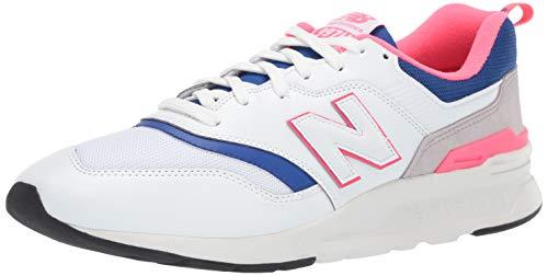 New Balance Herren 997H Sneaker, Weiß (White/Laser Blue), 45.5 EU (Chemise Klassische)