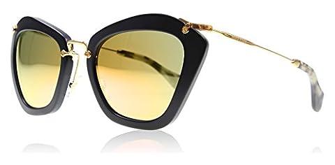 Miu Miu Noir MU10NS Sunglasses, Black (Black 1BO2D2), One Size