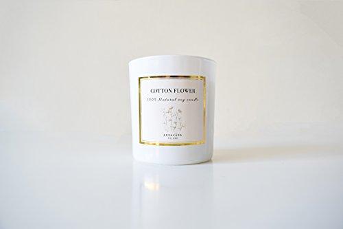 azzavara 100% natürlichem Soja Kerze, sauber brennende. Cotton Flower Duft. Mit Eleganten und natürliche Verpackung Geschenk -