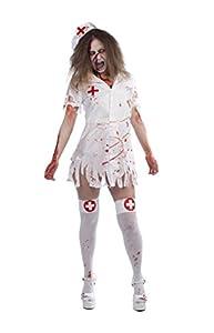 Rubies- Disfraz de enfermera zombie para adulto, Talla única (Rubie