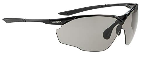 Alpina Sonnenbrille Performance SPLINTER SHIELD VL Sportbrille, black, One Size