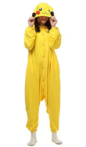 Auspicious beginning Unisex-adult Pokémon Pikachu Cosplay-Kostüm-Karikatur-Schlafanzüge Pyjama Freizeitkleidung Lounge