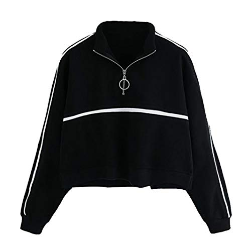 iHENGH Sweatshirt, Damen Casual Womens Long Sleeve Sweatshirt Frauen Jumper Pullover Strapless Bluse