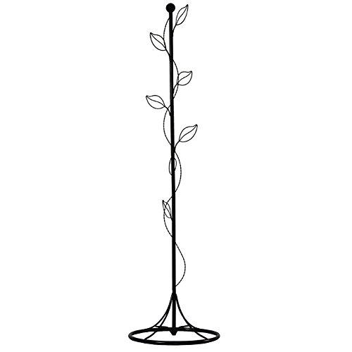Mantel Hut Steht (ZJM- Handwerk Hut und Mantel steht Hall-Stand Schlafzimmer Kleidung Baum Pastoralism Iron Art Baum Form schwarz 170cm)