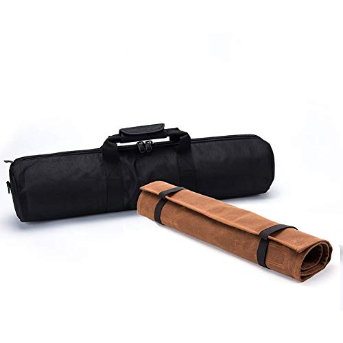 QEES GJB1042 Messertasche für Kochmesser, durchstoßfest, für Camping, Wandern, multifunktionale Werkzeugtasche Schwarz/Braun -