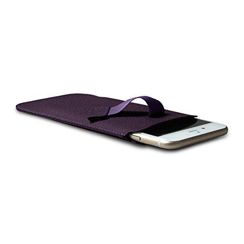 Lucrin - Etui avec languette pour iPhone 8/7/6/6s - Gris Souris - Cuir de Chèvre Violet