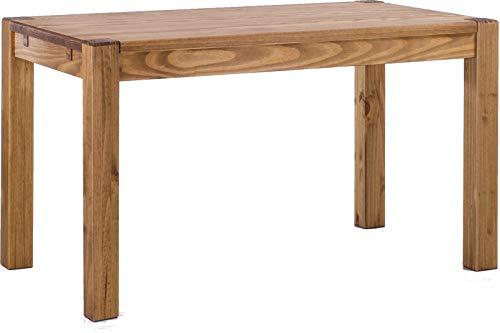Brasilmöbel® Esstisch Rio Kanto 130x80 cm Brasil Pinie Massivholz Größe und Farbe wählbar Esszimmertisch Küchentisch Holztisch Echtholz vorgerichtet für Ansteckplatten Tisch ausziehbar (Küchentisch, Möbel)