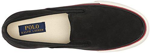 Ralph Lauren Mens Mytton Textile Trainers Black Leather