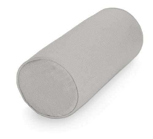 Dekoria Ektorp Bezug für Rolle Sofahusse passend für Ikea Modell Ektorp hellgrau Ektorp Rolle, Ektorp Nackenrolle, Bezug für Rolle, Überwurf für Rolle, Husse für Rolle, Ektorp, Ektorp Rolle, Ektorp Rolle Bezug