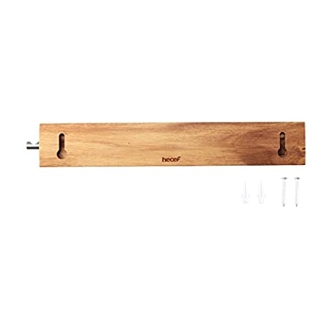 Hecef 30CM Magnetic Knife Holder Wooden,Acacia Wooden Strip for Storaging All Kinds of Metal Items