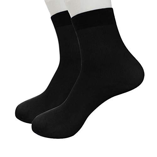 Bcfuda-calzini 1 paio bambù fibra ultra sottile elastico di seta corto seta calze autoreggenti uomini calzini