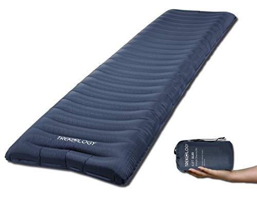 TREKOLOGY Isomatte aufblasbar, Sleeping Pad, Camping Luftmatratze - UL80 aufblasbare Isomatte Camping Isomatte Isomatte Ultraleicht, Isomatte leicht kleines Packmaß für einen erholsamen Schlaf