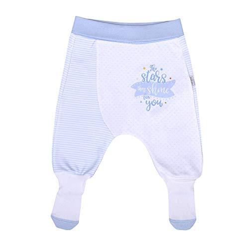 Dreams Babyhose Unisex Baby Strampelhose mit Fuß für Mädchen und Jungen Größe Blau 56/1-3 M