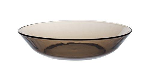 Duralex LYS 3014CF06Créole-Juego de 6Platos hondos de Cristal marrón 21cm.