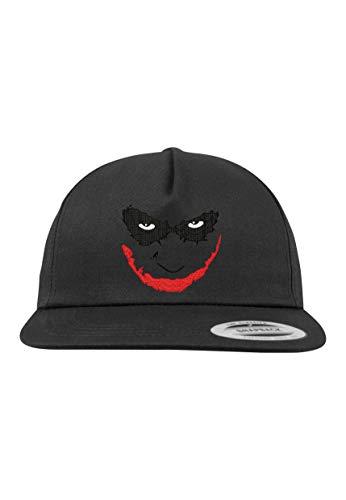 Youth Designz 5-Panel Kinder Junior Cap Modell Joker Smile Lächeln, Schwarz, B10b