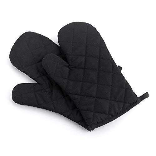 ZHYP 1Pc New Portable Black Cotton Blend Thick Kitchen Baking Cook Isolierte Oven Handschuhe Mitt -