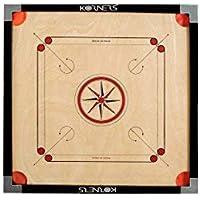 KORNERS Sky Cut Pocket Carrom Board with Coins, Striker & Carrom Powder Best Quality (Cut- 32 inches)