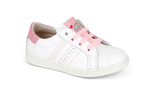 Pablosky 257507, Chaussures à Lacets Mixte Enfant Blanco.Rosa (Blanco.Rosa)