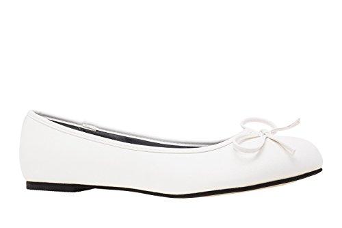 Andres Machado.TG104.Ballerines Classiques.Pour Femmes.Grandes Pointures du 42 au 46. Soft Blanc