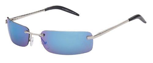 Sonnenbrille Evolution mit Metallrahmen Art. 4012-4 Rahmen: silber, Gläser: blau verspiegelt