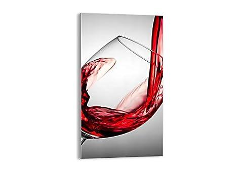 Impression sur verre - image sur verre - un élément - largeur : 45cm, hauteur : 80cm - Photo N° 2258 - Tableaux pour la mur - prete a suspendre - Tableau en verre - motif moderne - Décoration - pret a accrocher -